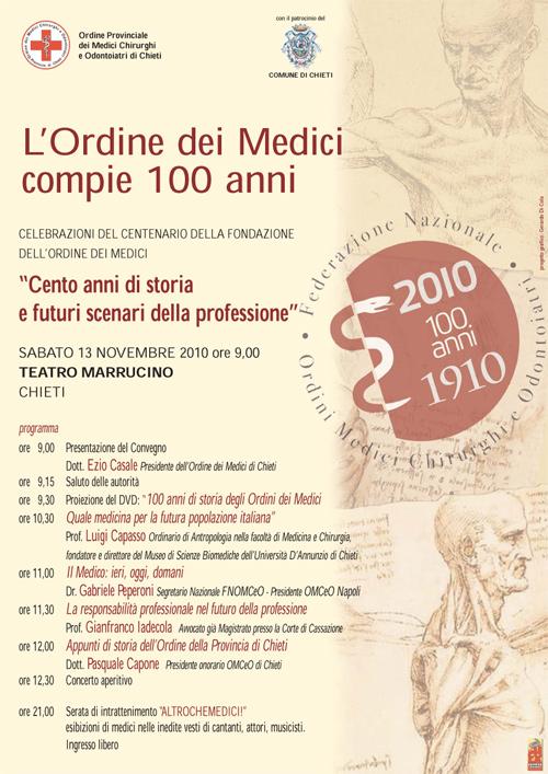 L'Ordine dei medici compie 100 anni