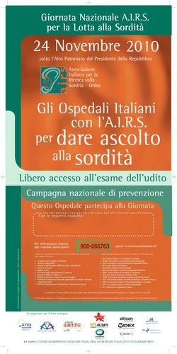 Gli ospedali italiani con l'Airs per dare ascolto alla sordità