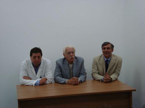 Da sinistra il direttore sanitario dell'ospedale di Ortona, Fernando Di Vito, il direttore sanitario della Asl Lanciano Vasto Chieti, Amedeo Budassi, il direttore generale della Asl Lanciano Vasto Chieti, Francesco Zavattaro