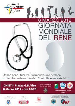 Chieti, Giornata mondiale del rene, 8 marzo 2012