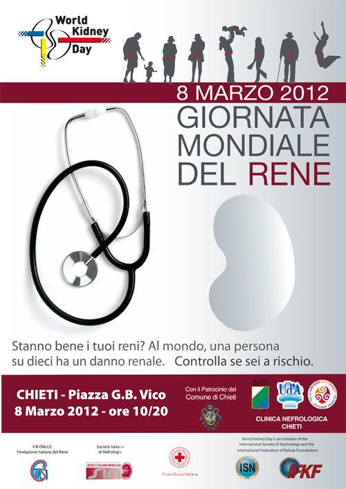 Giornata mondiale del rene - Chieti, 8 marzo 2012