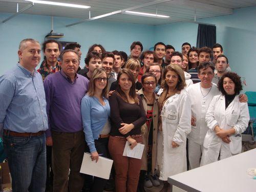 Alunni dell'Istituto Luigi di Savoia in visita al Servizio Trasfusionale di Chieti
