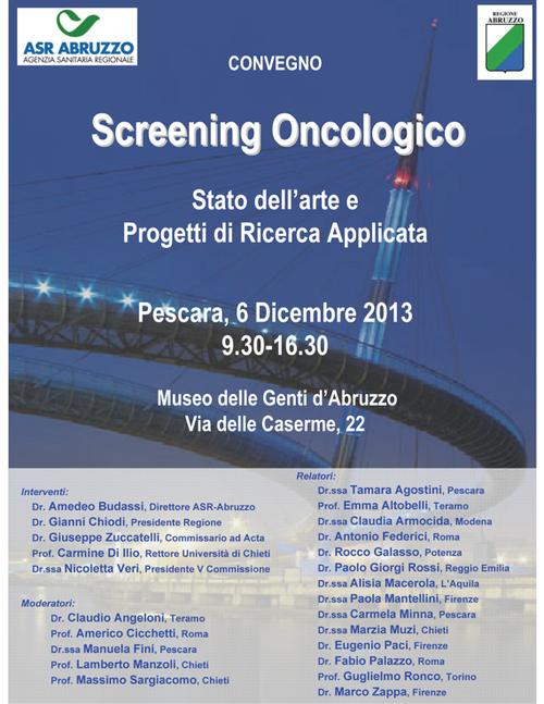 Convegno screening oncologico