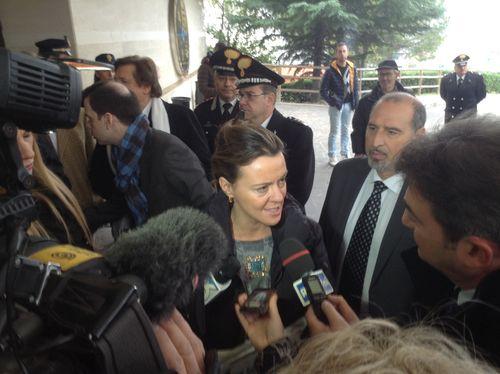 Il Ministro della Salute, Beatrice Lorenzin, in visita all'Ospedale di Chieti