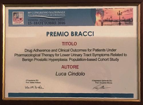 Premio Bracci a Luca Cindolo