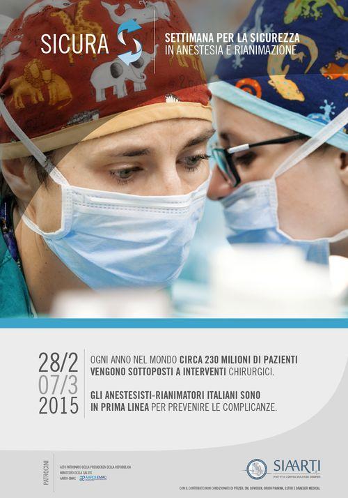 Sicura 2015, settimana per la sicurezza in anestesia e rianimazione