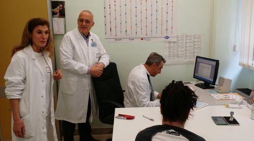 L'équipe del Centro Tiroide dell'ospedale di Chieti