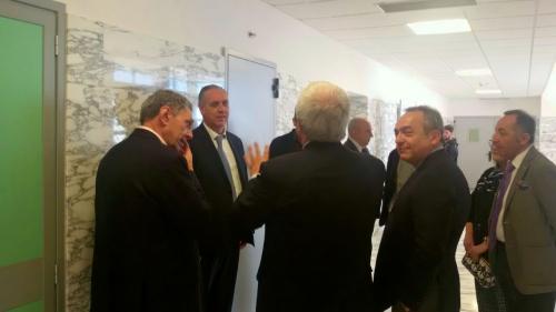 il Vice Presidente del Consiglio superiore della Magistratura, Giovanni Legnini, in visita all'Ospedale di Chieti
