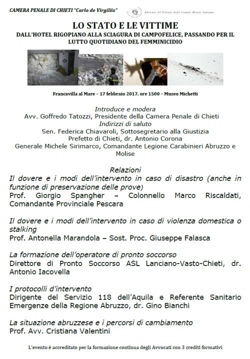 Lo Stato e le vittime: dall'hotel Rigopiano alla sciagura di Campo Felice, passando per il lutto quotidiano del femminicidio